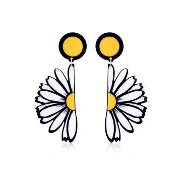 Женские милые серьги Daisy Flower Акриловые серьги