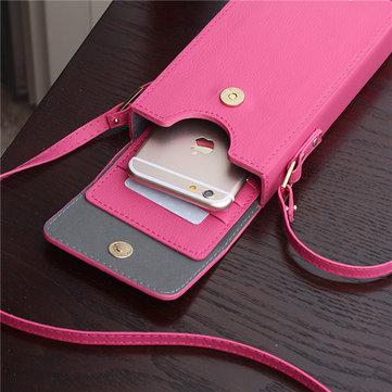 Женщины Стильный портативный 6inch сумка для телефона для iPhone Samsung Xiaomi Huawei Sony