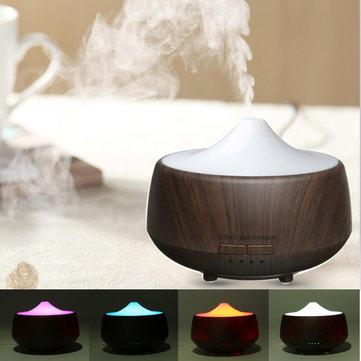 Ультразвуковой светодиодный цветной увлажнитель Темное дерево Зернистое диффузор Ароматерапия Спа Эфирное масло