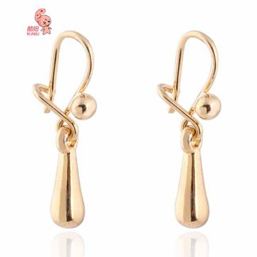 Kuniu 18k Позолоченный Waterdrop Dangle Earrings