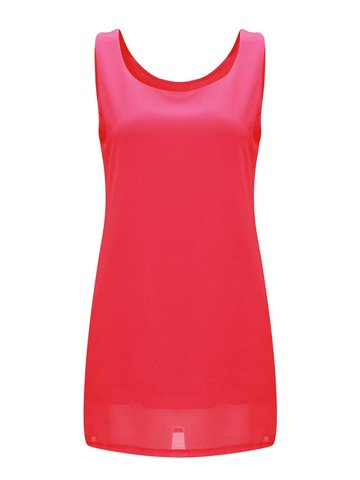 Brief Basic Pure Color Sleeveless Women Mini Dress