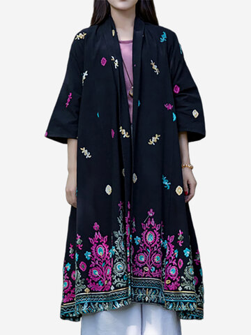 Embroidered Loose Vintage Coats
