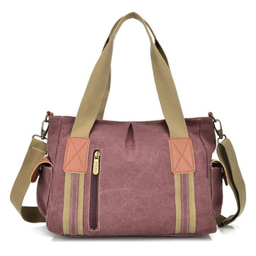 Women Canvas Joint Casual Handbag Shoulder Bags Crossbody Bags