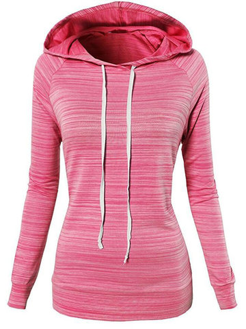 Casual Loose Solid Color Women Hoodies