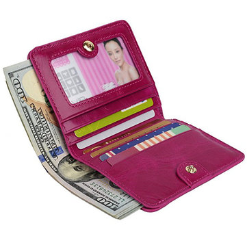 Women Genuine Leather Wallet Card Holder Portable Wallet Purse