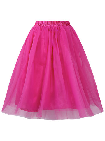 Brief Tulle Women Ball Gown Puff Skirts