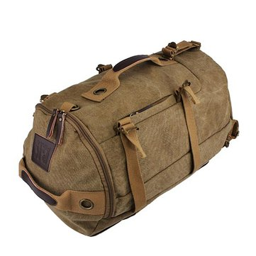 Dual-Use Canvas Bucket Backpack