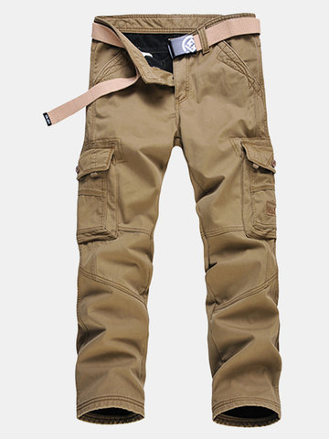 Winter Thick Warm Cargo Pants