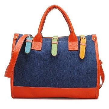 Sacchetto di spalla elegante della borsa della tela di canapa Jiont delle donne