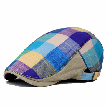 Хлопок Colorful Plaid Beret Cap