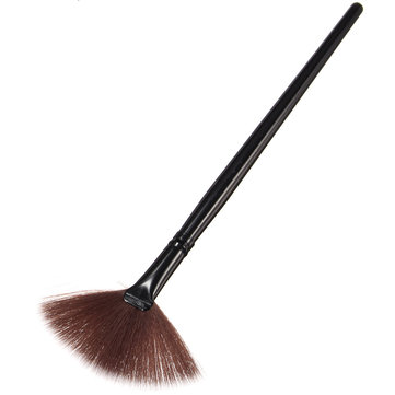 Buy Portable Fan Shape Powder Cosmetic Brush Concealer Blending Foundation Makeup