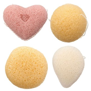 Природный Konjac Konnyaku Jelly Fiber Face Cleansing Wash Sponge Puff Pad