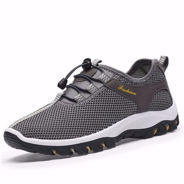 Мужская сетка Breathable Lace Up Casual Outdoor Sport Hiking Shoes