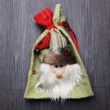 Рождественские украшения Draw String Творческие сумки для хранения