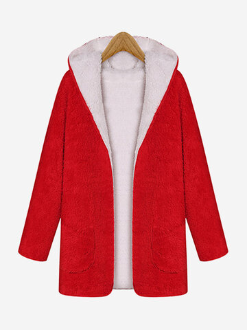 Fleece Thicken Winter Hooded Coats