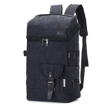 Solid Canvas Travel Backpack Large Capacity Computer Bag For Women Men