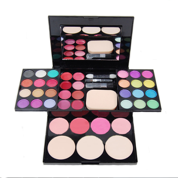 Professional Makeup Eyeshadow Lip Gloss Blush Foundation Palette Set