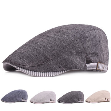Men's Cotton Beret Cap Casual Newsboy Hats