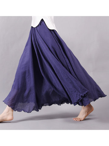 Gracila Women Pure Color Skirt