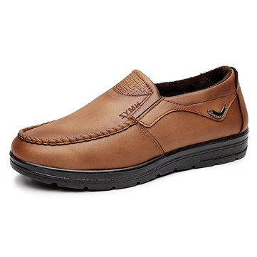 Chaussures Homme Casual Doublées de Peluche Chaude Style Ancien Pékin