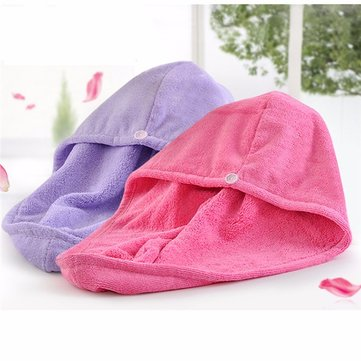 Women Hair Drying Shower Hat Salon Towels Quick Dry Bath Microfiber Fabric Cap