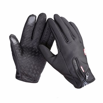 Waterproof Men Women Ski Warm Gloves Polyester Full Finger Screen Touch Driving Antiskid Mittens