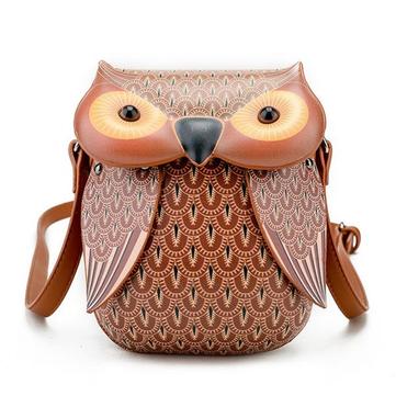 Creative Cartoon Owl Shape Shoulder Bag