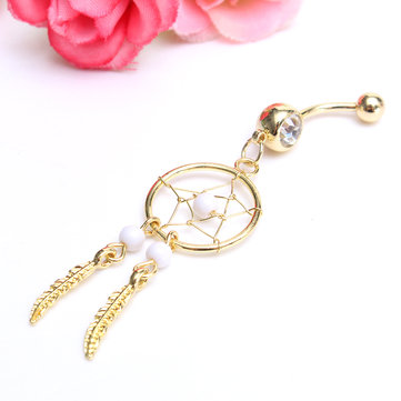Belly Ring Dream&Catcher Gold Plated Piercing Navel Ring