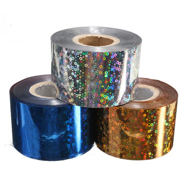 DANCINGNAIL 1 Roll Starry Shiny Halo Nail Transfer Foil Sticker Manicure Decoration Paper