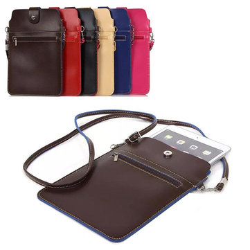 Vintage 7.9inch Bag Phone Bag Shoulder Bag Card Holder Portable Crossbdoy Bag
