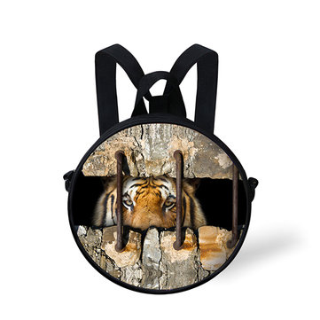 Fashion 3D Crevice Roar Animal Series Backpack School Bag for Primary School Students