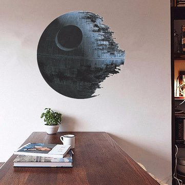 Removable Death Star Wars 3D Wall Stickers Art Vinyl Decal Kids Bedroom Home Wall Decor