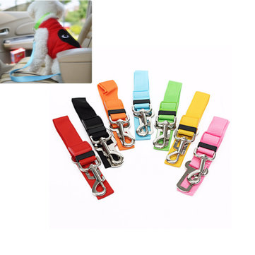 Adjustable Pet Car Safety Seat Belt Vehicle Harness Lead Leash Cat Dog Puppy Hound