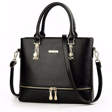Women PU Leather Handbags Casual Chain Large Capacity Shoulder Bags