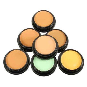 7 ألوان إيماجيك ماكياج التغطية الكاملة كريم الأساس الوجه المخفي مستحضرات التجميل المعدنية