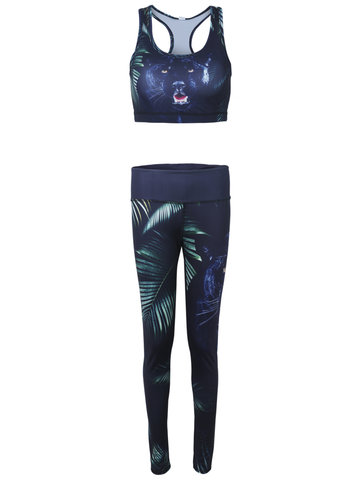 Mujeres 3D Animal Impreso Stretch Sport Tracksuits