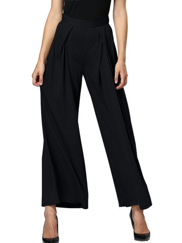 Women Casual High Waist Loose Wide Leg Pants