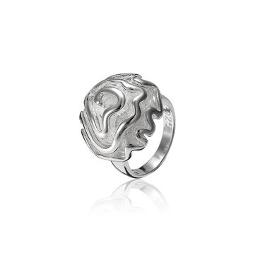 Silver Plated Rose Flower Ring