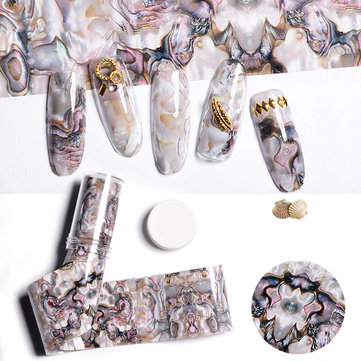 Gradient Marble Shell Nail Art Sticker