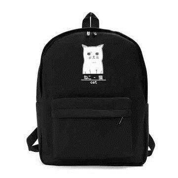 Girls Sweet Cute Bag Canvas Student Backpack Outdoor Travel Bag