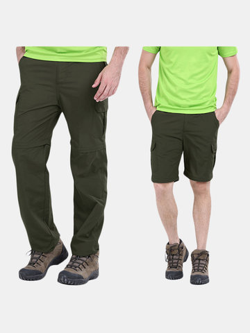 Mens Outdoor Climbing Pants Detachable Sun-proof Breathable Durable Sports Shorts