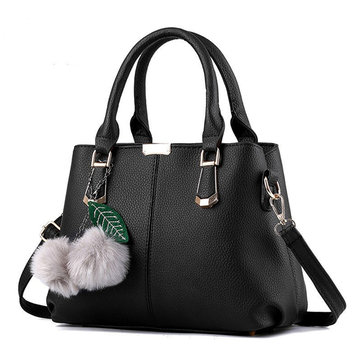 Women Fashion PU Leather Handbags Casual Tote Shoulder Bags