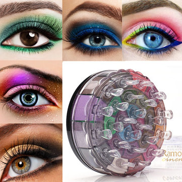 24 Colors Eyeshadow Highlight Palette Kit Smokey Eye Shadow Glitter Powder Pigment Makeup