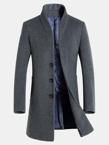 Шерстяное среднедолгое пальто