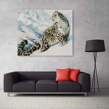 40 X 50cm DIY Oil Painting Wall Art Painting By Numbers Kits Snow Leopard Home Decor