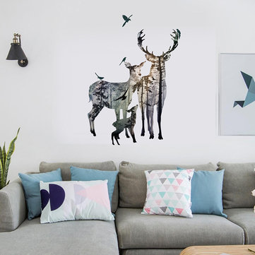 Creative Elk Self-adhesive Bedroom Living Room Sticker Wall Art Home Decor