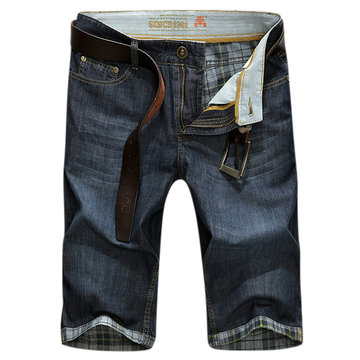 AFSJEEP Casual Jeans Loose Bretahable Outdoor Denim Shorts for Men