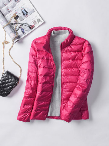 Casual Brief Women Light Down Jacket