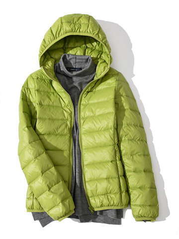 Portable Women Hooded Down Jackets