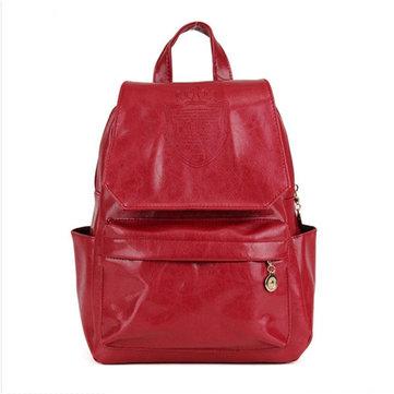 Кожаный рюкзак для женщин с короной